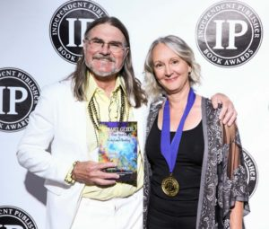 Jim Barnes, IPPY Awards Director, with Diana Ensign. Photo by Andrew Lipovsky